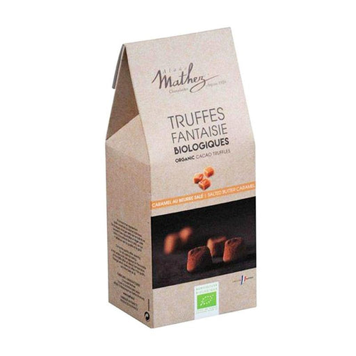 Mathez Organic Salted Butter Caramel Chocolate Truffles, 7.1 oz (201 g)