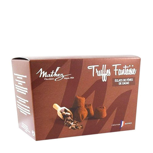 Mathez Chocolate Truffle with Cocoa Nibs, 8.8 oz (250 g)