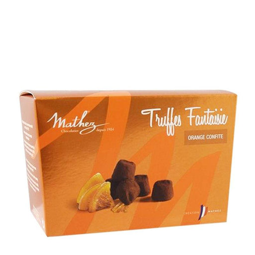 Mathez Chocolate Truffle with Candied Orange Peels, 8.8 oz (250 g)