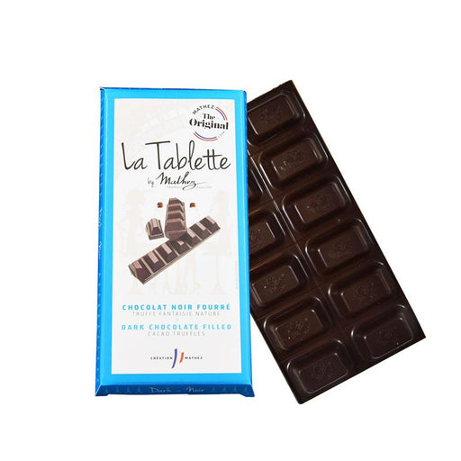 Mathez Dark Chocolate Tablet with Truffle filling, 3.4 oz (94 g)