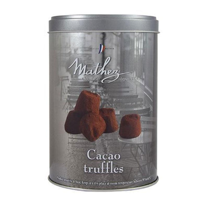 Mathez Plain Truffles in Paris by Night Silver Tin, 17.6 oz (500 g)