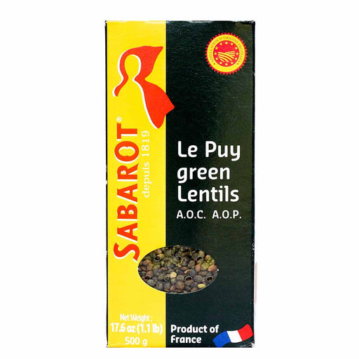 Sabarot French A.O.P. Green Lentils from Le Puy, 17.6 oz