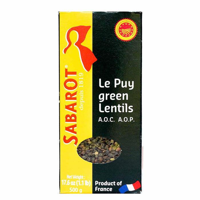 Sabarot Green Lentils from Le Puy, A.O.P., 17.6 oz