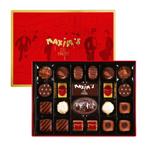 Maxim's Assorted French Chocolates 22 pc in Red Tin