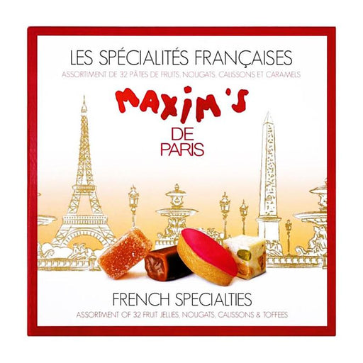 Maxim's Assorted French Specialties 32 Fruit Jellies, Toffees, Nougats & Calissons