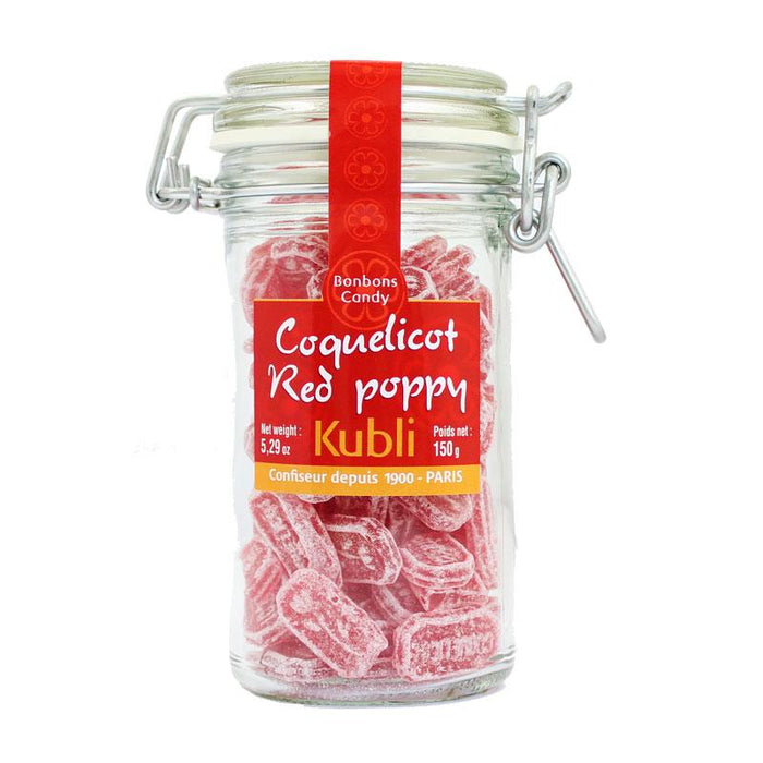 Kubli Red Poppy Coquelicot Gourmet Hard Candy, 5.29 oz (150 g)