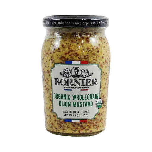 Bornier Organic Whole Grain Dijon Mustard, 7.4 oz (210 g)