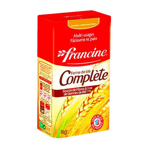 Francine Whole Wheat Flour, Complete, Type 150, 2.2 lbs (1kg)