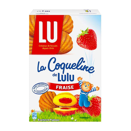 LU Cookies Madeleine Coqueline Cakes with Strawberry Filling, 5.8 oz (165g)