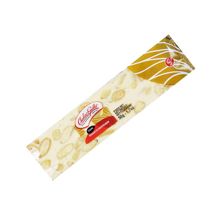 Chabert Guillot White Nougat with Almonds Bar, 1.8 oz (50 g)