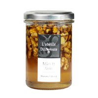 L'Abeille Diligente Acacia Honey with Walnuts, 8.8 oz (250 g)
