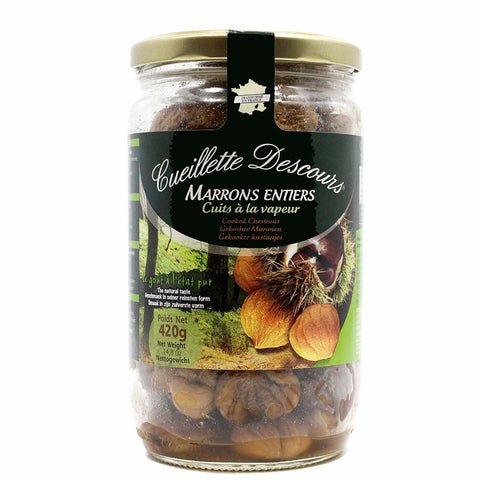 Whole Roasted Chestnuts Large Bottle by Concept Fruits 14.8 oz