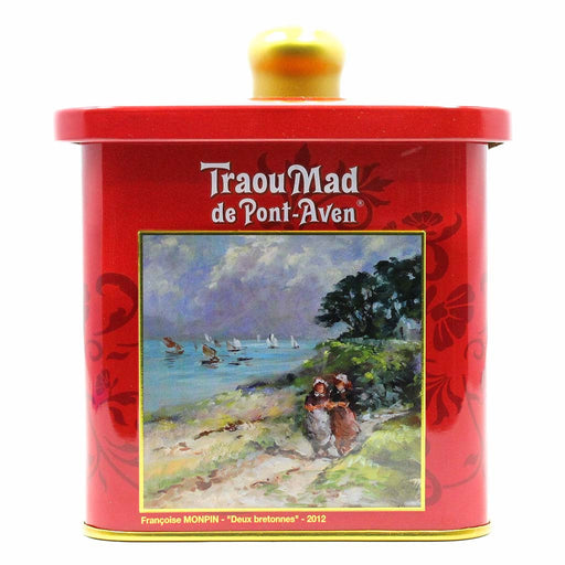 Traou Mad French Butter Cookies Palets in Tin 7 oz