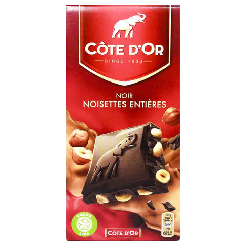 Dark Chocolate with Hazelnuts by Cote d'Or 7 oz