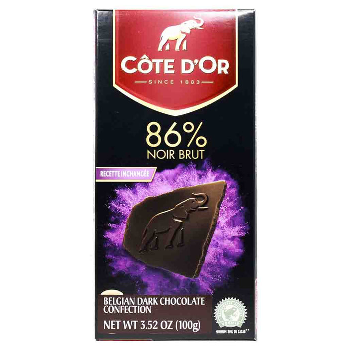 Extra Dark 86% Chocolate by Cote d'Or 3.5 oz