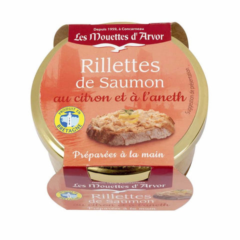 Salmon Rillettes with Lemon and Dill by Mouettes d'Arvor 4.4 oz