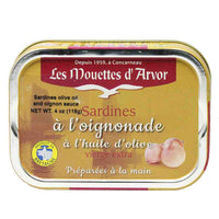 Mouettes d'Arvor Sardines with Extra Virgin Olive Oil and Onion Sauce 4 oz