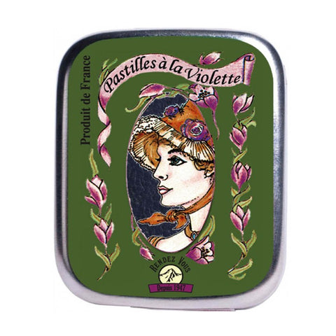 Violet Licorice Pastilles Mints by Societe Industrielle De Confiserie 0.56 oz