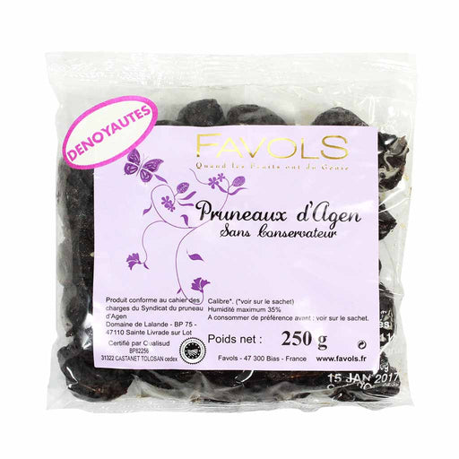 Agen Pitted Prunes from France by Favols, 8.8 oz