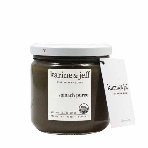 Organic French Spinach Puree by Karine & Jeff 12.3 oz