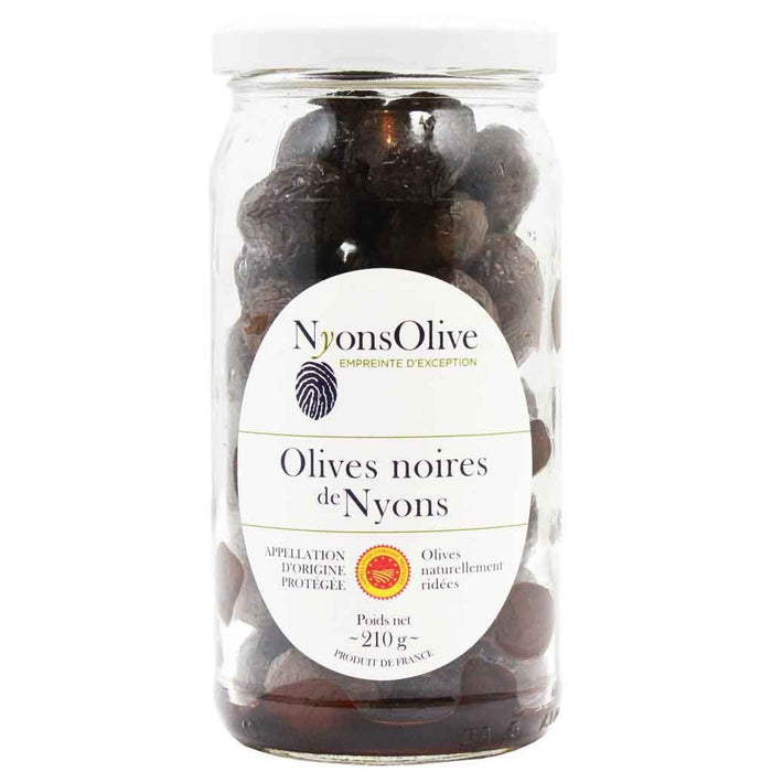 French Black Olives AOC by Nyonsolive 7.4 oz. (210g)