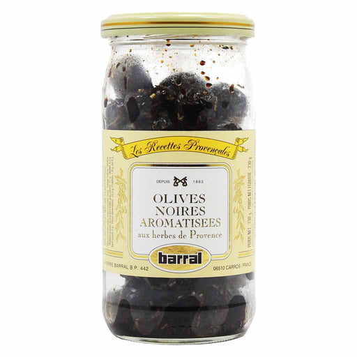 Barral - Black Olives with Provence Herbs, 7.5 oz