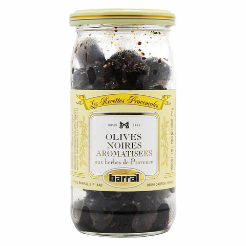 Black Olives with Provence Herbs by Barral 7.5 oz