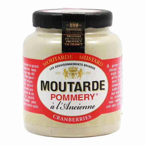French Mustard with Cranberry by Pommery 3.5 oz