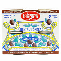 Clement Faugier Chestnut Spread Pack of 4 Mini Cans (3.5 oz x 4)