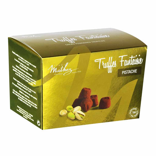 Mathez French Chocolate Truffles with Pistachio, 8.8 oz