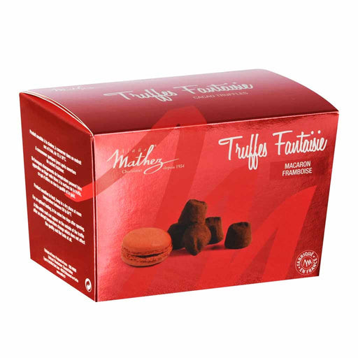 Mathez - Chocolate Truffle with Raspberry Macaron Chips, 8.8 oz