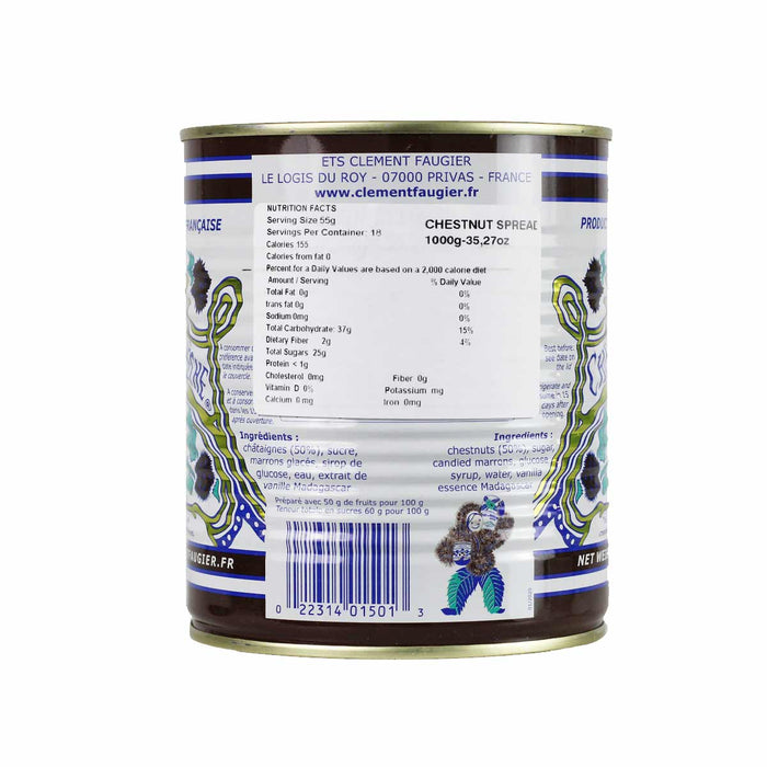 Clement Faugier Chestnut Spread Vanilla 35 oz