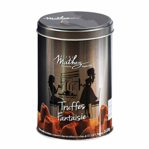 Mathez - French Chocolate Truffle in Silver Tin, 17.6 oz