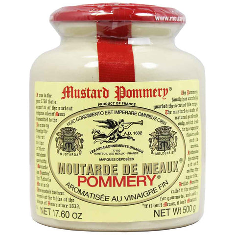Large French Mustard from Meaux by Pommery 17.6 oz