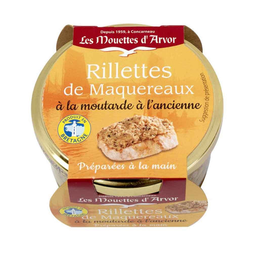 Mouettes d'Arvor Mackerel Rillettes with Grain Mustard 4.4 oz