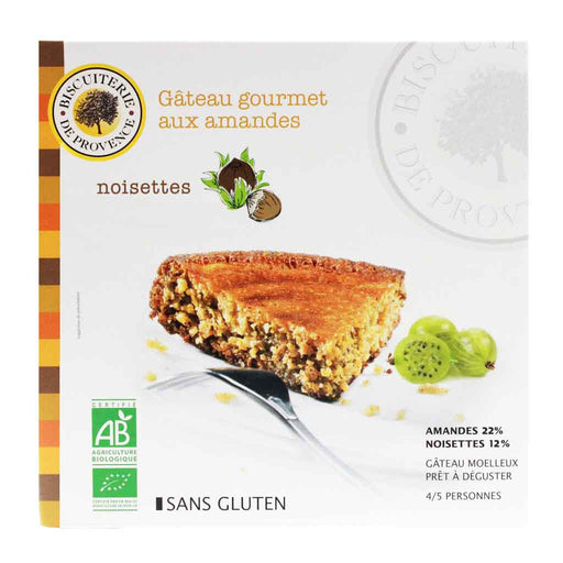 French Organic Hazelnut Almond Cake by Biscuiterie de Provence, 7.95 oz (225 g)
