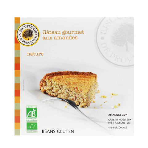 Organic Gluten Free Almond Cake by Biscuiterie de Provence 7.9 oz