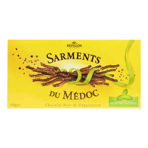 Dark Chocolate Mint Sarments by Revillon 5.2 oz