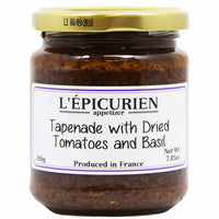 L'Epicurien Large Jar Tapenade with Dried Tomatoes and Basil 7 oz