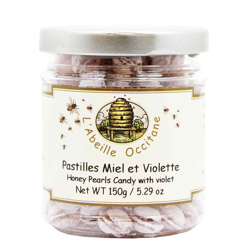 French Honey Pearls Candy with Violet by L'Abeille Occitane, 5.2 oz