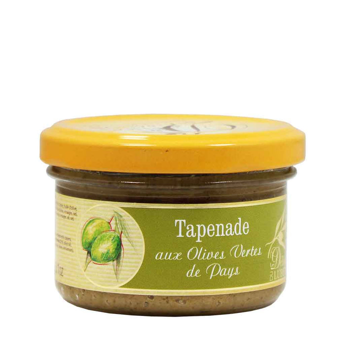 Delices du Luberon Green Olive Tapenade 3.1 oz. (90 g)