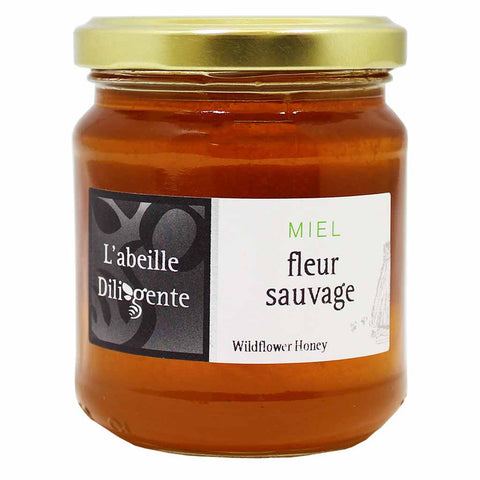 L'Abeille Diligente Wildflower Honey 8.8 oz. (250g)