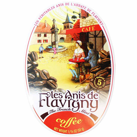 Les Anis de Flavigny Coffee Mints Tin 1.7 oz. (50g)