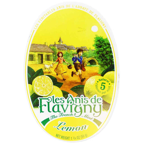 Les Anis de Flavigny Lemon Mints Tin 1.7 oz. (50g)