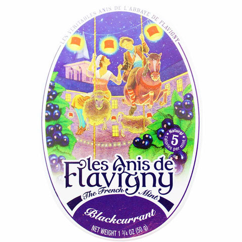 Les Anis de Flavigny Blackcurrant Mints Tin 1.7 oz. (50g)