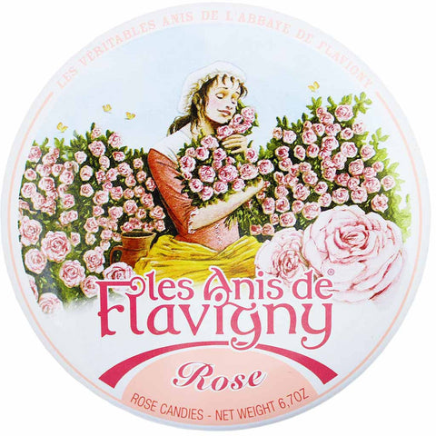Les Anis de Flavigny Large Rose Mints Tin 6.7 oz. (189g)