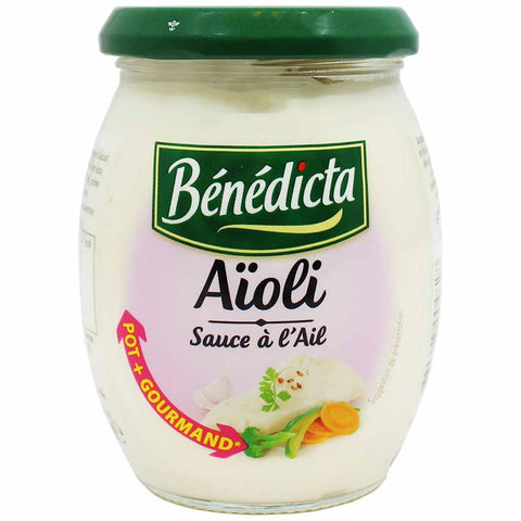 Benedicta Aioli Garlic Sauce for Fish 9.1 oz. (260g)