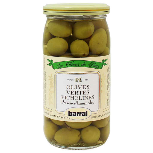 Barral Green Picholine Olives 6 oz. (170g)