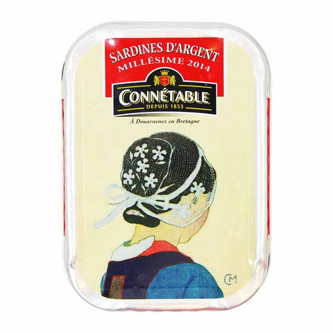 Connetable Sardines in Extra Virgin Olive Oil Millesime 2014 4.5 oz. (115g)