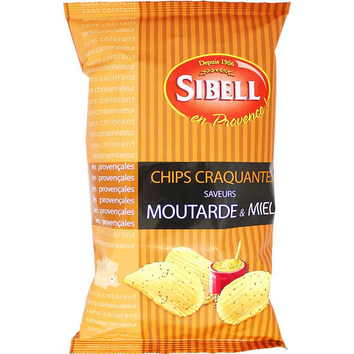 Sibell - Moutarde & Miel Mustard and Honey Potato Chips, 4.2 oz. (120g)